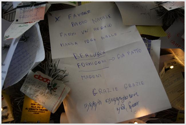 albero di messaggi a milano