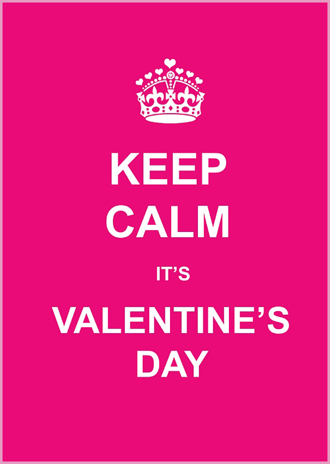 Tweedot blog magazine - Valentine's Day keep calm