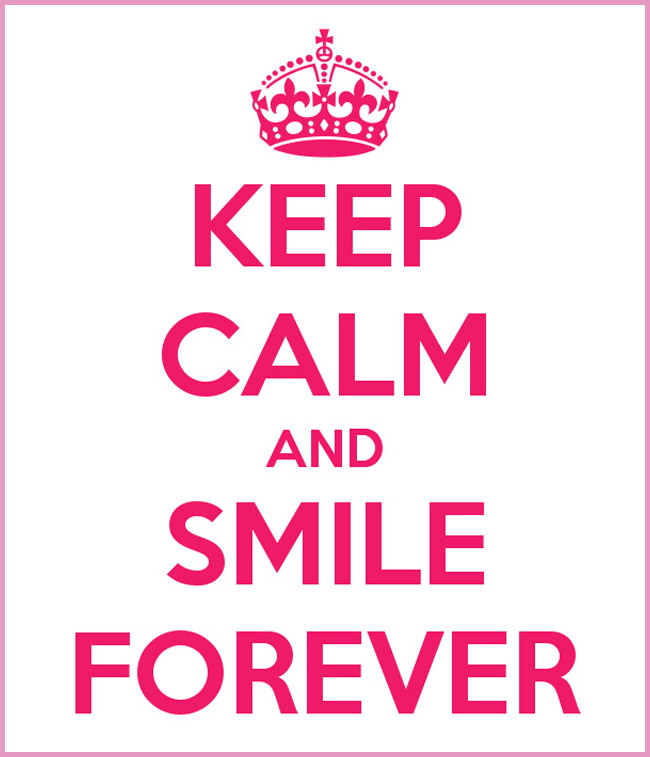 Tweedot blog magazine - keep calm and smile forever
