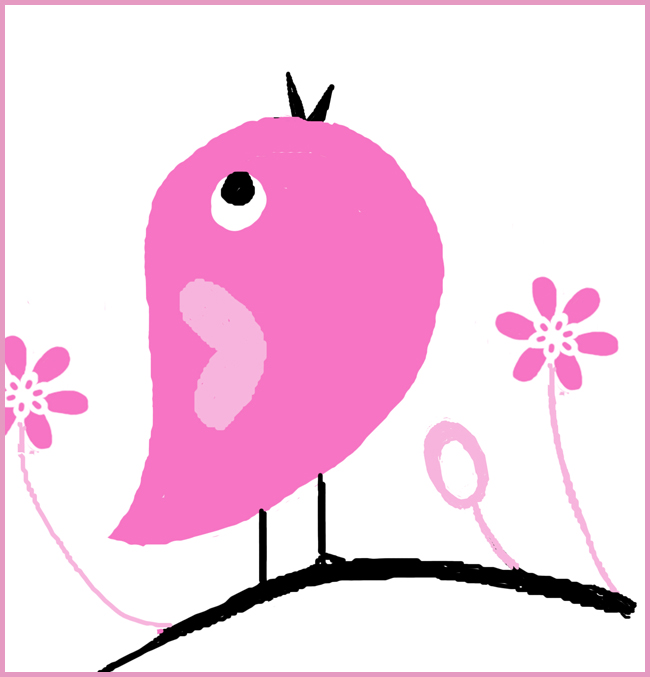 Tweedot blog magazine - pink bird