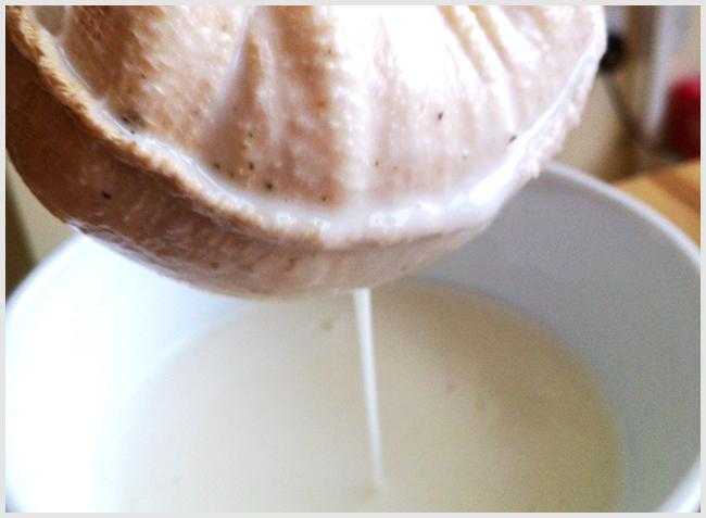 Tweedot blog magazine - filtrare le mandorle frullate per ottenere il latte