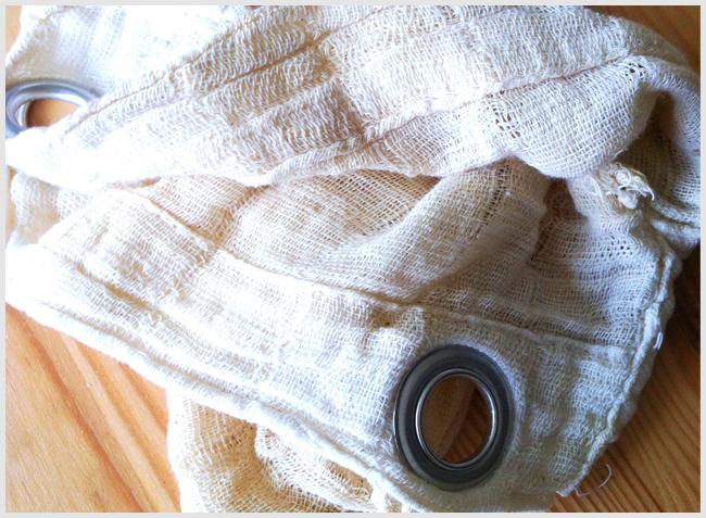 Tweedot blog magazine - retina da marmellata o panno per filtrare il latte di mandorle