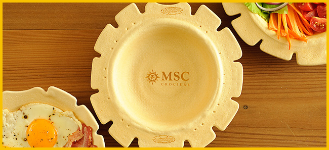 Tweedot blog magazine - Pappami piatto da mangiare customizzato con brand msc crociere