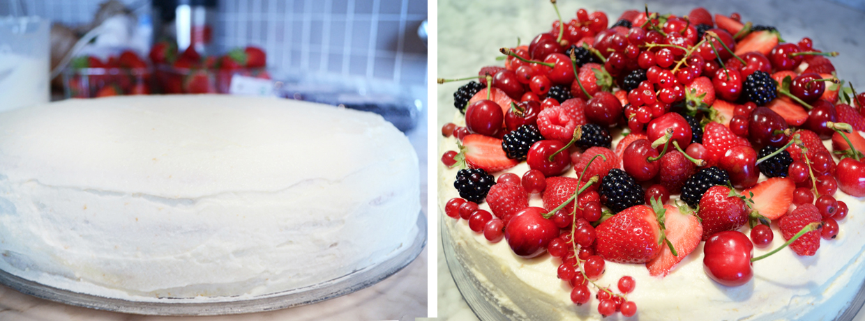Tweedot blog magazine - Torta di Compleanno Farcita alla Crema e Decorata con Frutta