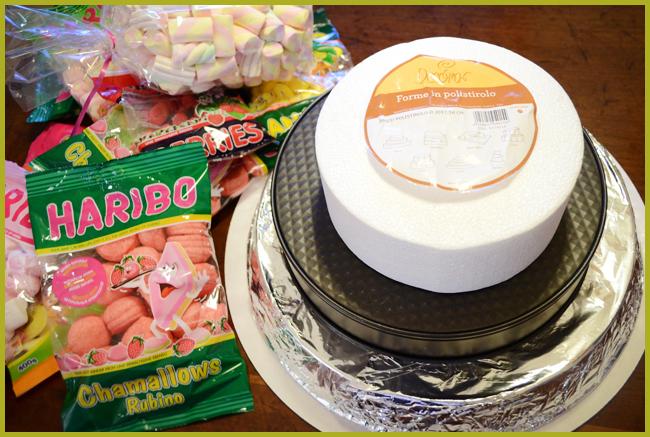 Tweedot blog magazine - come fare una torta di marshmallow e caramelle gommose