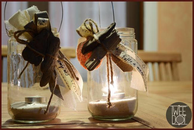 Tweedot blog magazine - preparare un tavolo in giardino con lanterne handmade