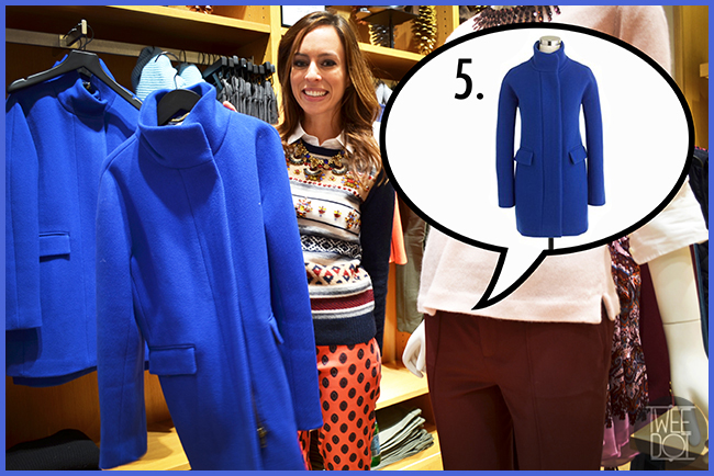 Tweedot blog magazine - tendenze moda dagli Stati Uniti - a Los Angeles nel negozio JCrew con la fashion blogger Sydne Summer - cappottini colorati