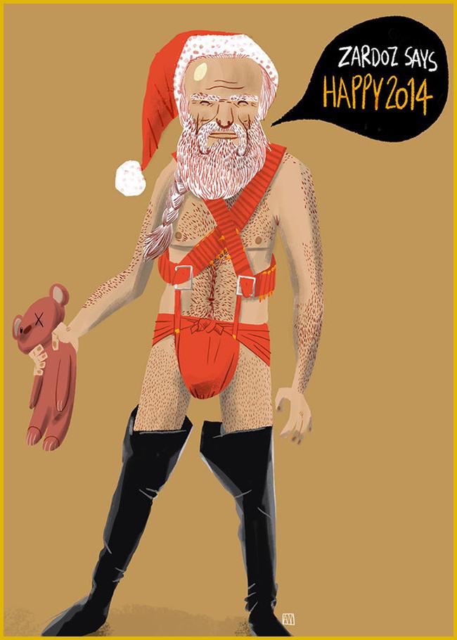 Tweedot blog magazine - Babbo Natale Zardoz Christmas