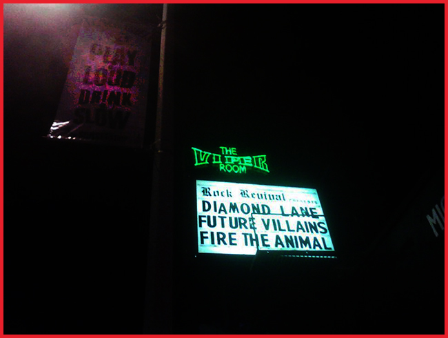 Tweedot blog magazine - Fire the Animal play at the Viper Room Los Angeles
