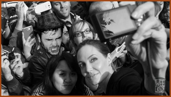 Tweedot blog magazine - Selfie di gruppo coi vip - Angelina Jolie