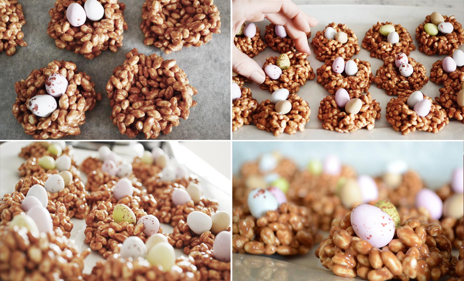 Tweedot - Lavoretti di Pasqua - Dolci di Pasqua con Mini Uova di Pasqua di Cioccolato e Riso Soffiato