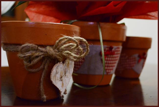 vasetti marroni in stile country