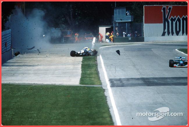 Tweedot blog magazine - Ayrton Senna curva Tamburello immagini che hanno fatto la storia