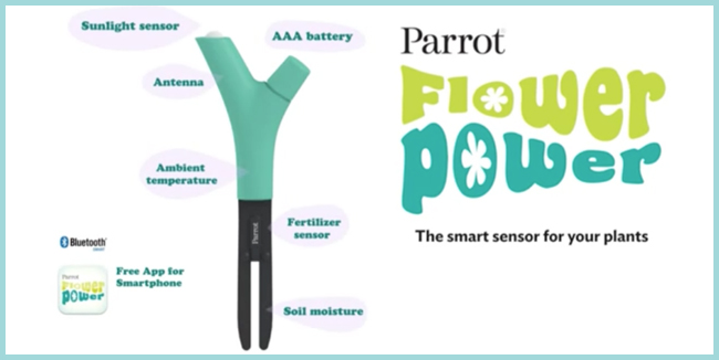 Tweedot blog magazine - Parrot Flower Power smart sensor for your plants - sensore smart per piante