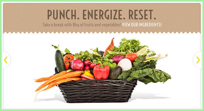 Tweedot blog magazine - punch detox energy from vegetables