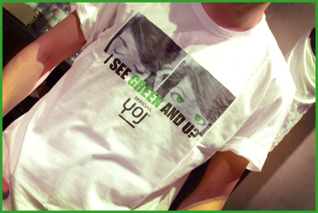 Tweedot blog magazine - moda green b-shirt JOY t-shirt 2013