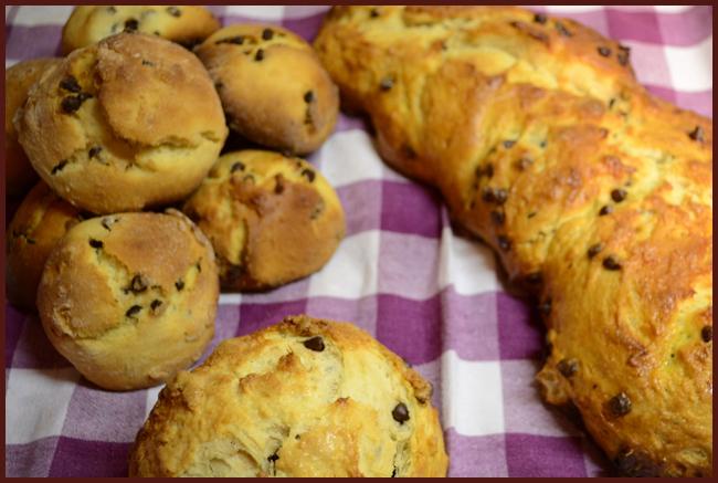 Tweedot blog magazine - treccia di pan brioche con gocce di cioccolato