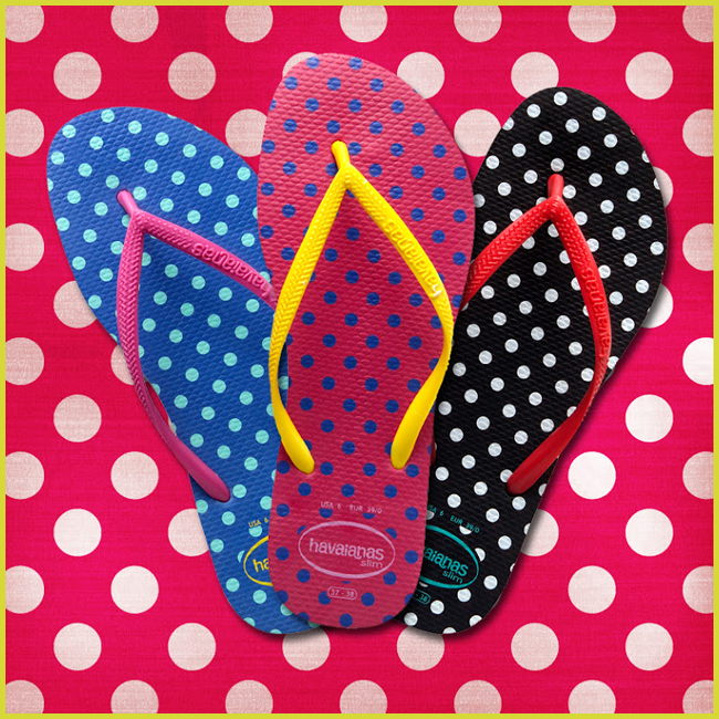 Tweedot blog magazine - Havaianas dots slim pois