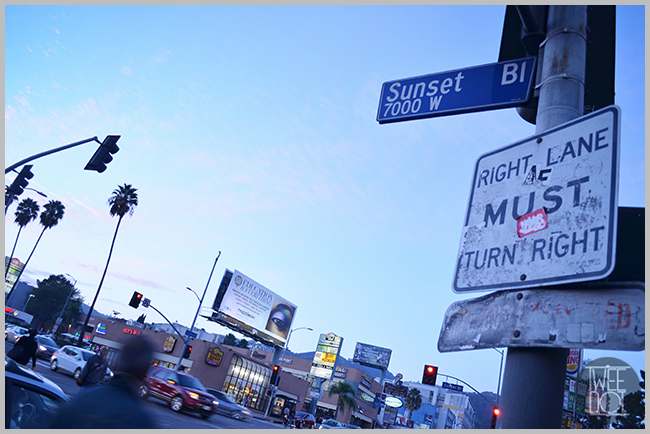 Tweedot blog magazine - Los Angeles Hollywood Sunset and La Brea
