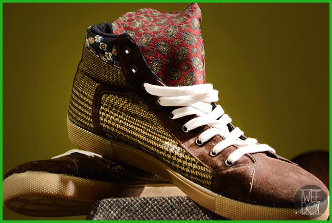 Tweedot blog magazine - Springa sneakers da uomo con cravatte e materiali di riciclo