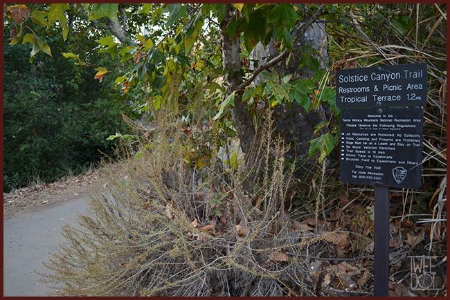 Tweedot blog magazine - trekking in California nel Solstice Canyon Trail Malibu