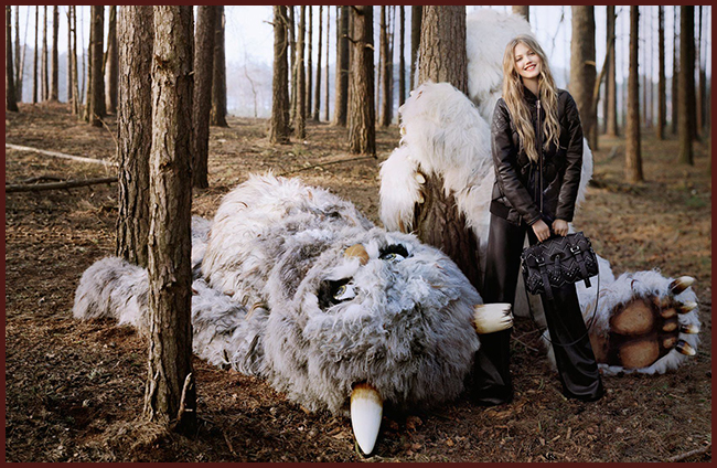 Tweedot blog magazine - Tim Walker fashion photographer Lindsey Wixson