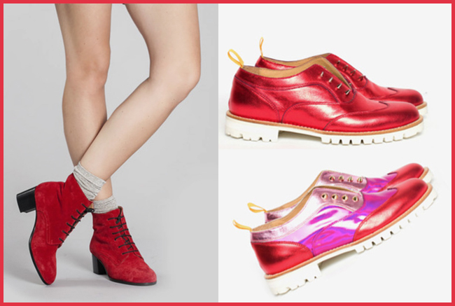 Tweedot blog magazine - L'F Unisex Italian shoes - perfect gift for Valentine's Day
