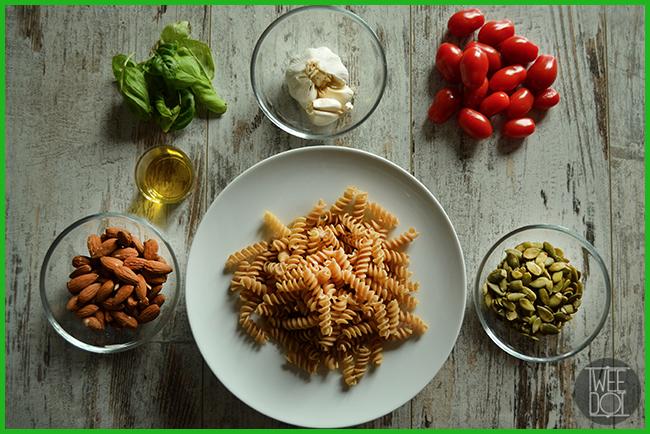 Tweedot blog magazine - Ingredienti pasta al pesto fatto in casa