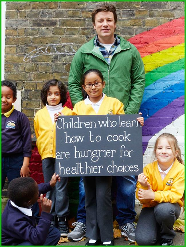 Tweedot blog magazine - Jamie Oliver and children for Food Revolution Day 2014