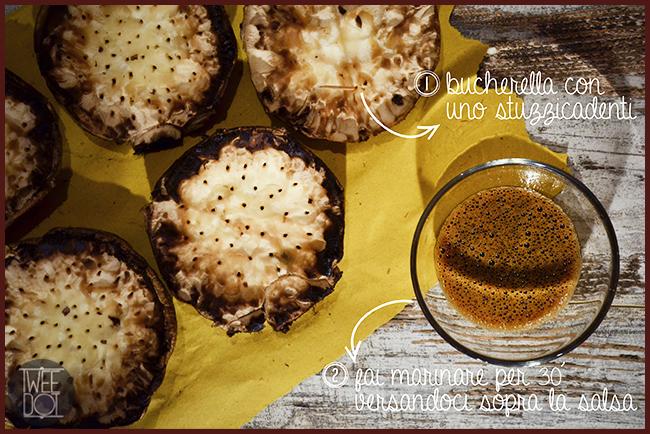 Tweedot blog magazine - ricetta vegana con funghi champignon giganti marinati con salsa di soia e agave