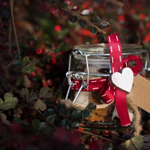 TWEEDOT - Regali di Natale Fai da Te - Vasetti con Zollette di Zucchero Natalizie